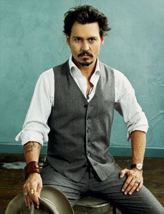 johnny depp - love everything he wears! :)
