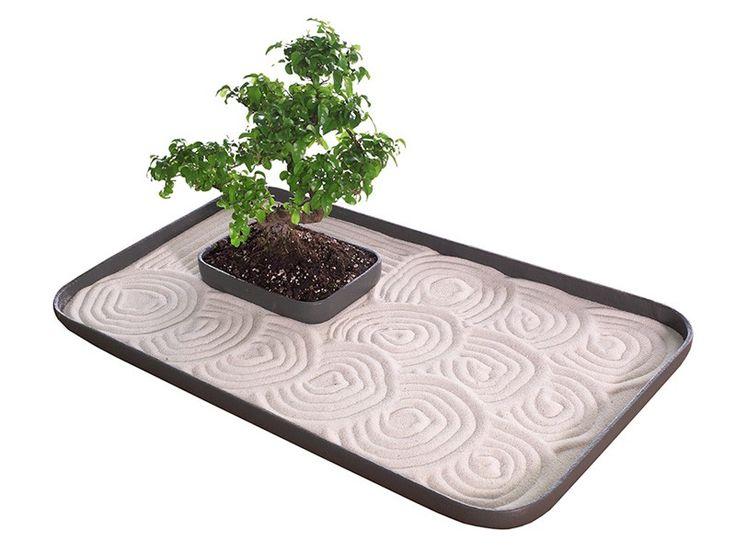 Tabletop Japanese Zen Gardens | Deluxe Japanese Zen Garden - Desktop Zen Garden Set