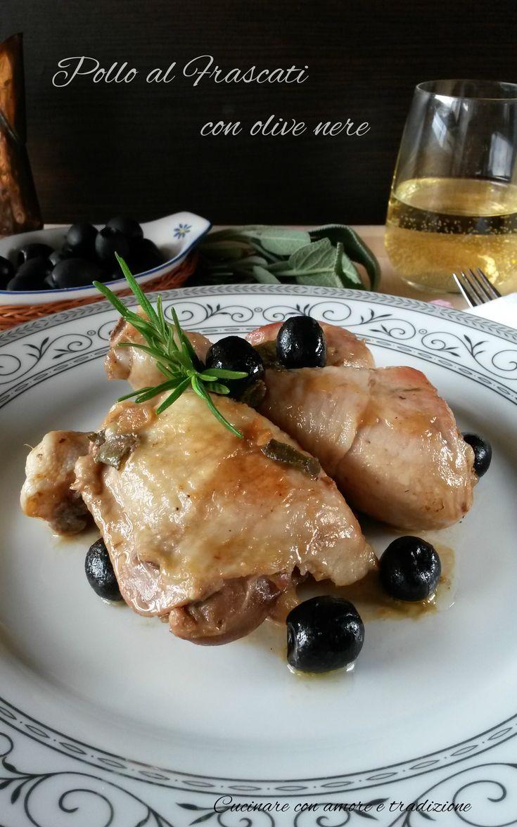 Pollo+al+Frascati+con+olive+nere
