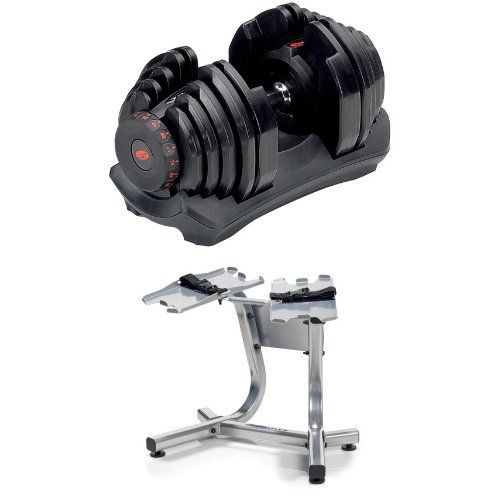 Bowflex SelectTech 1090 Adjustable Dumbbells (Pair) and Stand http://adjustabledumbbell.info/product/bowflex-selecttech-1090-adjustable-dumbbells-pair-and-stand/
