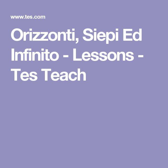 Orizzonti, Siepi Ed Infinito - Lessons - Tes Teach