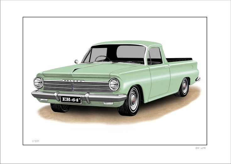HOLDEN EH 179 UTE LIMITED EDITION CAR PRINT AUTOMOTIVE ARTWORK | eBay