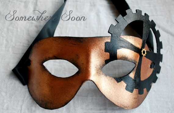 Handmade leather masquerade / steampunk mask