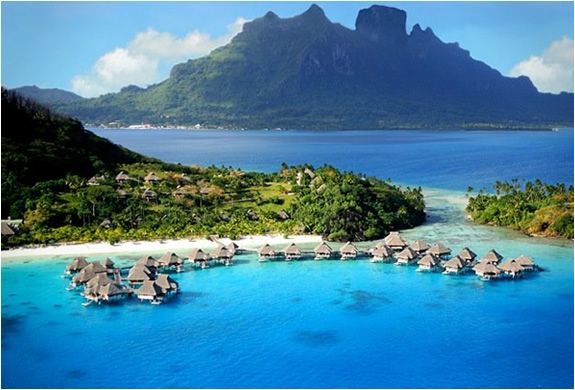 Hilton, Bora Bora (ANYWHERE with over the ocean villas! LOVE IT!)