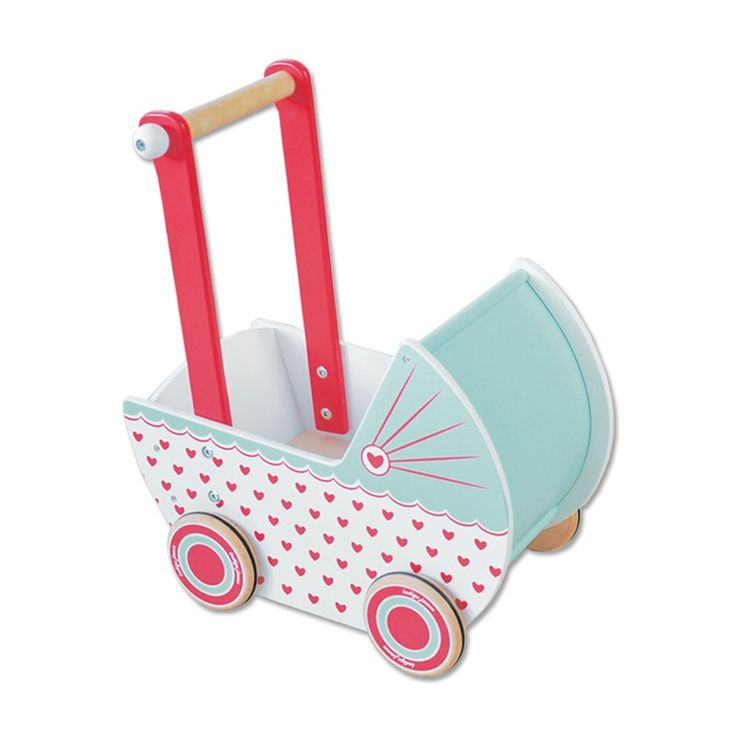 Indigo Jamm Wooden Pram Hearts #EntropyWishList #PinToWin every girl needs a dolls pram 😍
