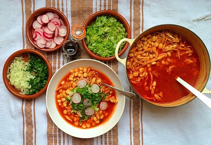 Pozole Rojo de Pollo (Chicken Red Pozole) | Mexican Food Memories