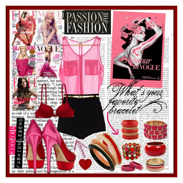 """""""PINK"""" by emilovesfashion ❤ liked on Polyvore featuring River Island, Charlotte Olympia, Mi Lajki, Dsquared2, Dorothy Perkins, MANGO, Forever 21, Fantasy Jewelry Box, ANNA and passion"""