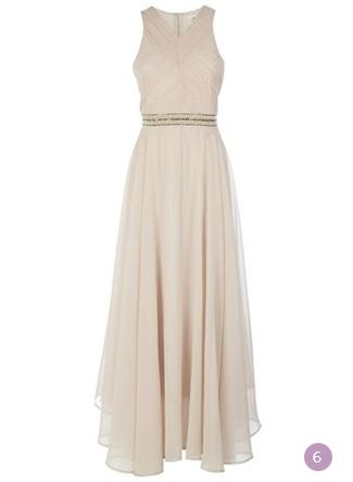 Pleated Details Maxi Dress