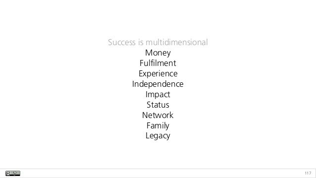 117 Success is multidimensional
