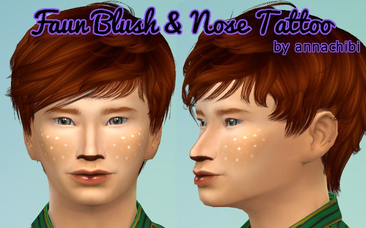 I made some faun/animal makeup and decided to share it! It comes in two parts: blush with 2 swatches (light and dark), and a back tattoo nose in 4 swatches (black, dark brown, light brown, pink) with...