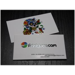 silk laminated business cards spot uv option printjuce http