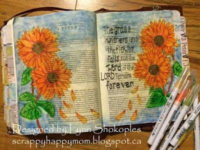 Scrappy Happy Mom: 1 Peter - Bible Journaling.