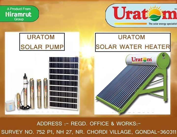 Time to bring the change. Opt for solar equipments from URATOM. Uratom Solar Pump Uratom Solar Water Heater  #Uratom #Energy #solarpower #solarpump #solarenergy #solarpanels #solar