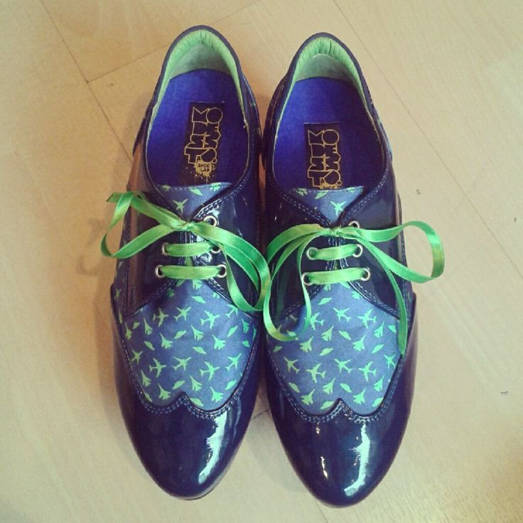 Stamped oxfords. Custom made.