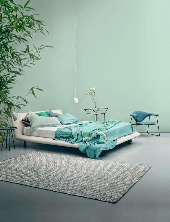 aqua en turquoise slaapkamer | New appartment: sleeping and bath ...