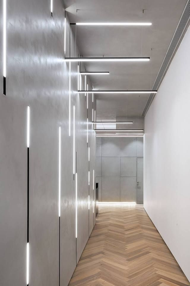 Concrete Walls In Hallway Concrete Hallway Officearchitectureconcrete Walls In 2020 Wall Lighting Design Textured Wall Panels Concrete Wall