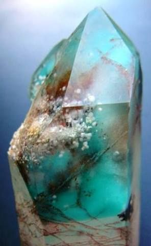Crystals & Stones:  #Ajoite comes from South Africa. It is wonderful for creativity, overcoming prejudice, expressing your truth and youthfulness. It brings calm, which is always nice. It helps spirit contact, jealousy, hate, anger and prejudice. It also replaces fears with love.