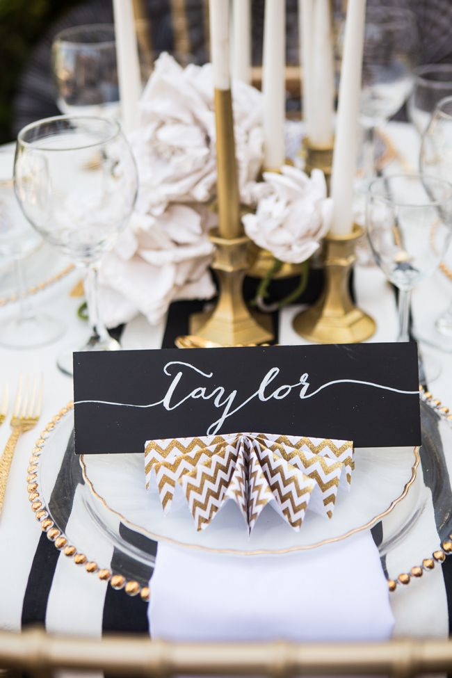 Glamorous black and gold Betsy Johnson inspired shoot - see more at http://fabyoubliss.com/2014/07/16/glamorous-black-and-gold-betsy-johnson-inspired-shoot/