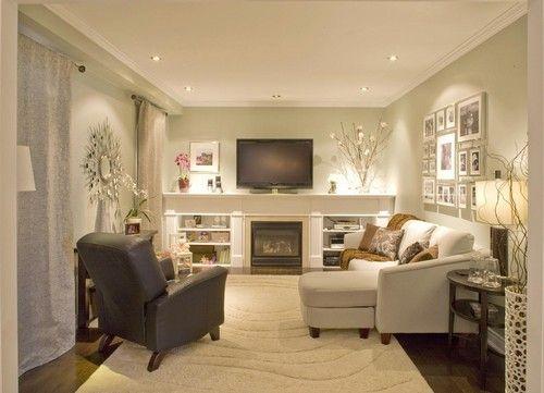 Idée de décor pour un salon dans le sous-sol  Maison - Sous-sol ...