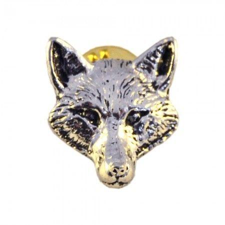 Pewter Fox Head Lapel Pin in Presentation Box - £4.49