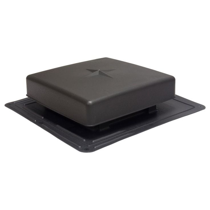 Air Vent 61 Sq In Nfa Plastic Square Top Roof Louver Static Roof Vent In Black Sold In Carton Of 10 Only Rvp61bl Roof Vents Aluminum Screen Rain Diverter