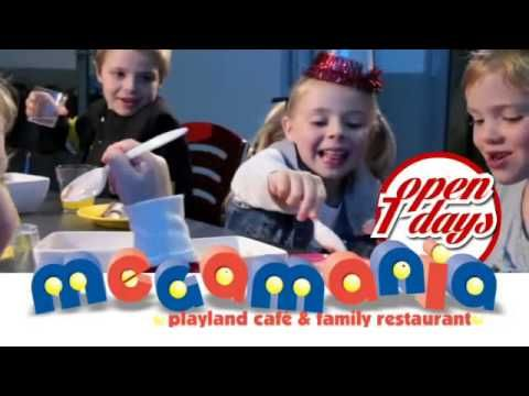 Megamania   With several party packages, kids will have fun in this indoor play centre.