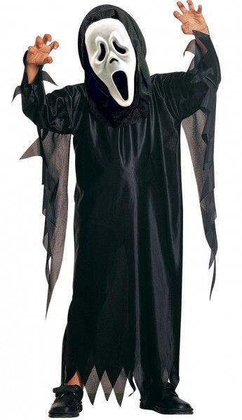 Scream Kostüm für Kinder, schwarz, mit Scream-Maske