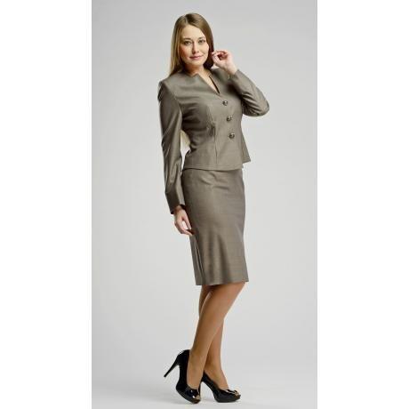 A-Style - Женский деловой костюм из тонкой шерсти