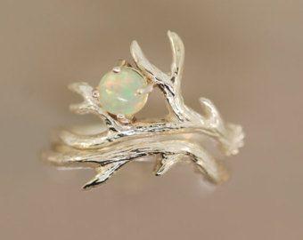 Geweih Ring 2 mit blauen Rohdiamanten Rohdiamant von TeriLeeJewelry