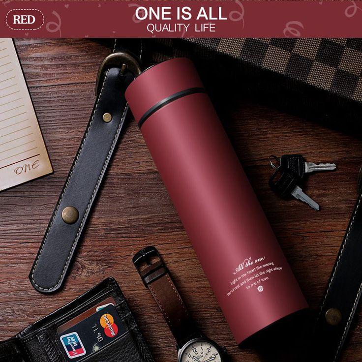 [ $13.51 ] 450MLBlack Thermalcup Stainless Steel Thermal Mug Tea Drinkware Insulated Thermos Coffee Mug Vacuum Flasks Cup Vacuum Flask