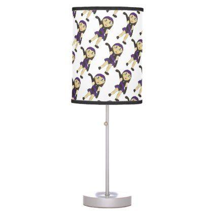 #Black Purple Dance Bedroom Decor Jazz Dancer Table Lamp - #home #lamps #decor #lamp #tablelamp #tablelamps #home #living