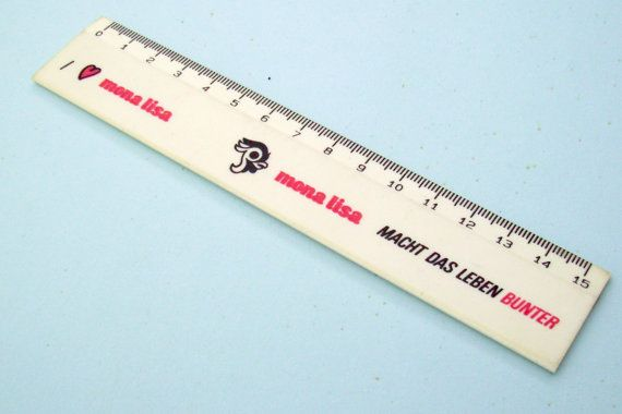 I Love Mona Lisa White Ruler 80s Metric Tool Kawaii by JirjiMirji, €5.90