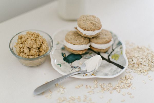 National oatmeal day! http://www.stylemepretty.com/living/2013/04/17/oatmeal-cream-cookies-homemade-chocolate-milk-from-ruth-eileen/ | Photography: Ruth Eileen - http://rutheileenphotography.com/