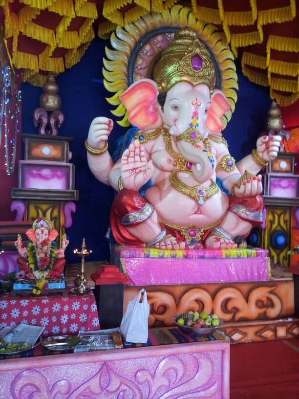 Ganesh chaturti celebration in the town of Vasco da Gama, Goa. Ganesha Chaturthi is the Hindu festival celebrated in honour of the god Ganesha, the elephant-headed, remover of obstacles and the god of beginnings and wisdom.