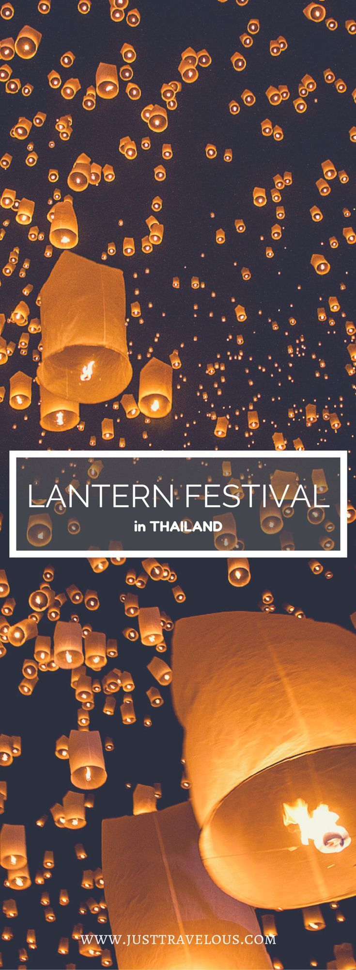 The Yee Peng festival in Northern Thailand is the lantern Festival every backpacker is dreaming about. I've been there and I'll tell you where you can raise your lantern in Chiang Mai. #thailand #yeepeng #loykrathong #chiangmai #lantern