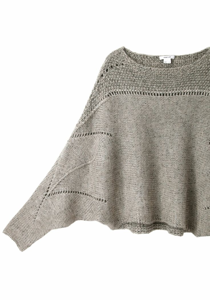 Helmut Lang Polar Knit Cropped Sweater : I want this in cotton top as a tunic or possibly a dress.