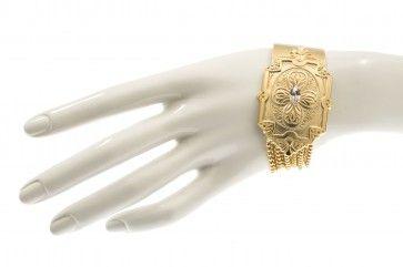 Handmade gold plated bracelet with Swarovski strasses, by Art Wear Dimitriadis