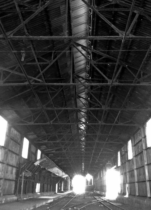 Abandoned railroad station in Las Cuevas, Mendoza, Argentina