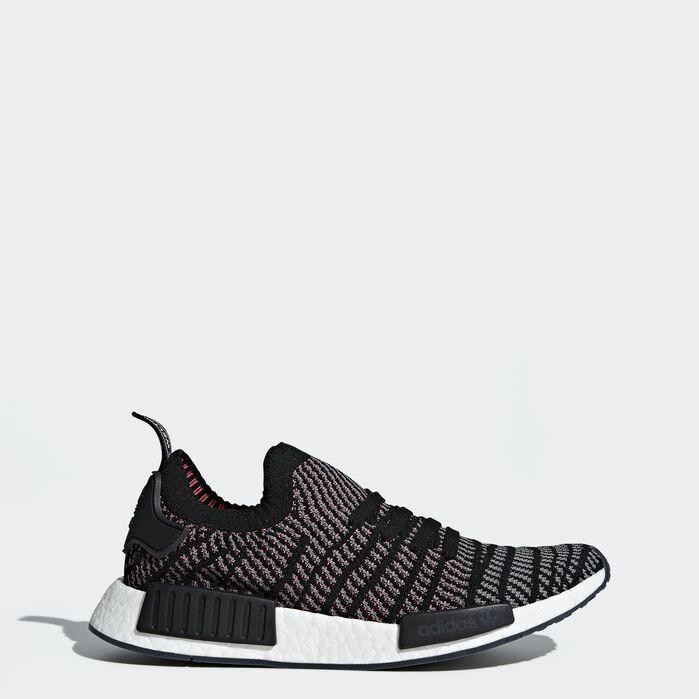 NMD_R1 STLT Primeknit Shoes Black Mens | Adidas nmd r1