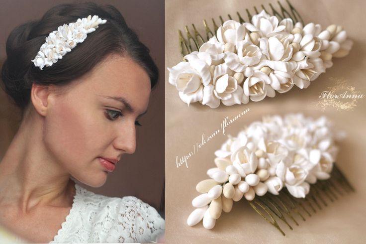 Картинки по запросу цветы полимерная глина заколки ободки для волос