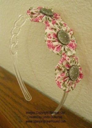 Fabric Yoyo Headband by Donna C.
