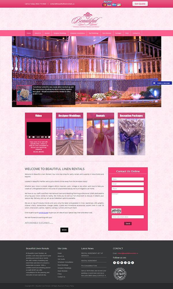 Wedding Decorator website - Beautiful linen rentals on Behance