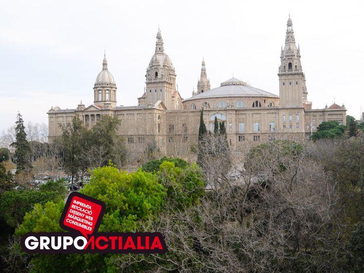 Barcelona. Montjuic. Grupo Actialia ofrece sus servicios en Barcelona: Diseño web, Diseño gráfico, Imprenta y Rotulación. www.grupoactialia.com