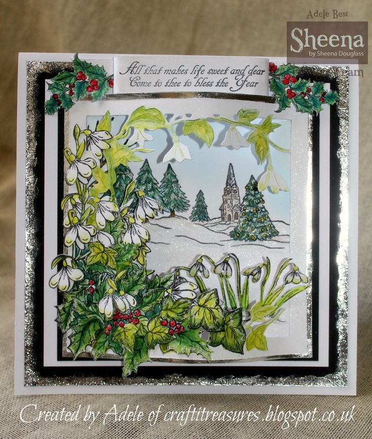 Sheena Douglass Christmas Snowdrops die frame from the Scenic Winter Perfect…