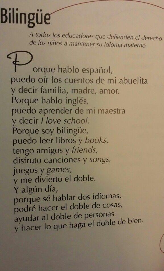 Porque Soy Bilingüe Libro: Todo es Cancion-Antologia Poetica by Alma Flores Ada