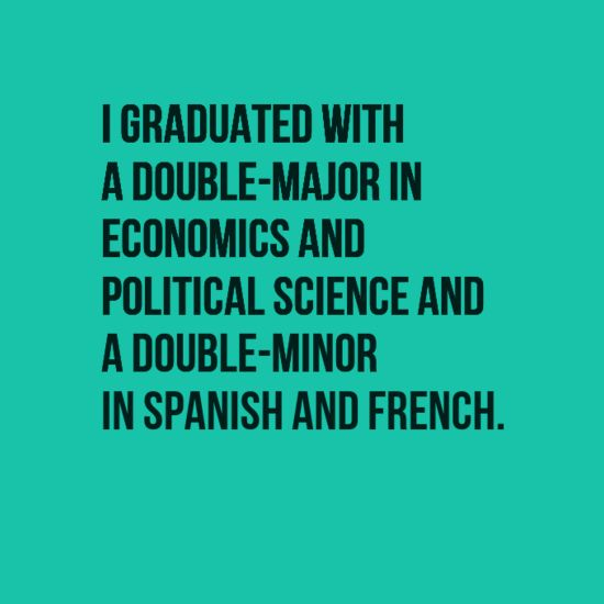 Double majoring in French and Spanish?