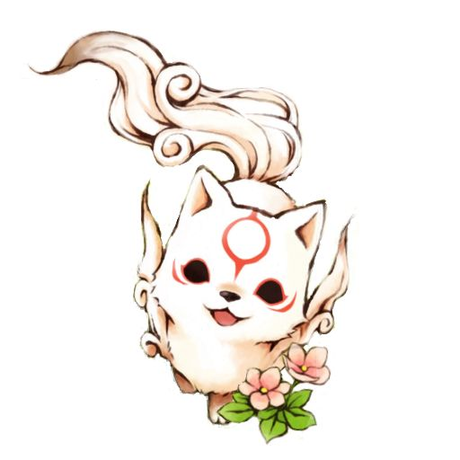Chibi Okami Amaterasu - Icon by KurotsukiDC.deviantart.com on @deviantART