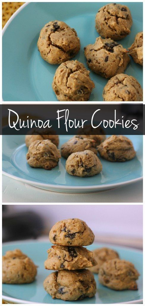 This healthy quinoa flour cookies taste just like a soft baked chocolate chip cookie! They're gluten free, healthy, and delicious!