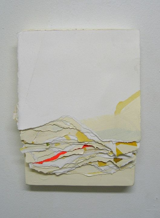 layered paper collage art