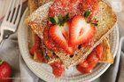 Vanilla French Toast with Strawberry Syrup #vegan #recipes